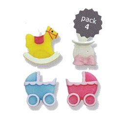 SET 4 CANDLES ACCESSORIES BABY PME ( CA001 )