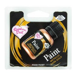 METALLIC DARK GOLD PAINT 25 ML RAINBOW DUST