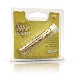 METALLIC GOLD HEART GLITTER 2 GRAMS RAINBOW DUST