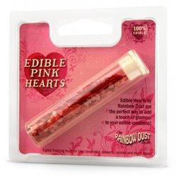 METALLIC PINK HEART GLITTER 2 GRAMS RAINBOW DUST