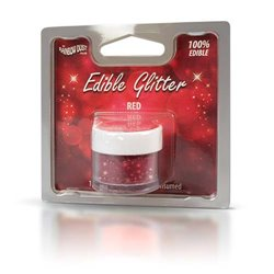 EDIBLE GLITTER RED 5 GRAMS RAINBOW DUST - NON - TOXIC