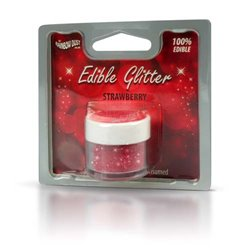 EDIBLE GLITTER STRAWBERRY 5 GRAMS RAINBOW DUST - NON - TOXIC