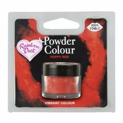 POWDER COLOUR POPPY RED 2 GRAMS RAINBOW DUST
