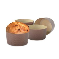 PAPER MOULD FOR PANETTONE 100 GRAMS CF. 100 PIECES DECORATES ( 0320163 )