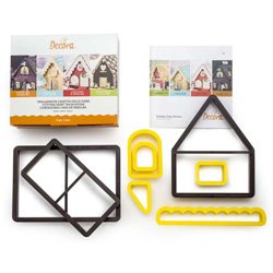 SET 8 FAIRY TALE HOUSE CUTTERS ( 0255162 )