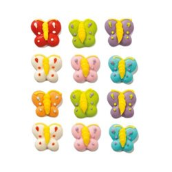 12 UNITS BUTTERFLY SUGAR DECORATIONS ( 0500070 )