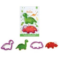 SET 2 DINOSAUR CUTTERS - 2 DECORA ( 0255065 )