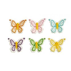 6 UNITS BUTTERFLY SUGAR DECORATIONS ( 0500408 )