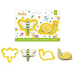 SET 2 PLASTIC DRAGONFLY AND SNAIL CUTTERS ( 0255203 )