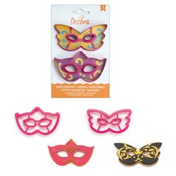 SET OF 2 PLASTIC CUTTERS TO DECORATE MASKS ( 0255107 )