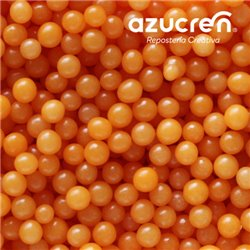 ORANGE PEARLS ( WITHOUT LUSTER ) AZUCREN 4 MM. - 90 GRAMS