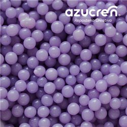 LILAC PEARLS ( WITHOUT LUSTRE ) AZUCREN 4 MM. - 90 GRAMS