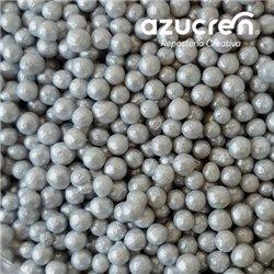 AZUCREN PEARLS SILVER 4 MM. AZUCREN CAN 900 GRAMS