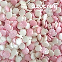 PINK/WHITE SUGAR CONFETTI 700 GRAMS