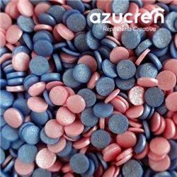 CONFETTI BLUE/PINK SUGAR 700 GRAMS