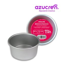 FORMA REDONDA ANODIZADA PARA BOLOS 20 X 7,5 CM. AZUCREN