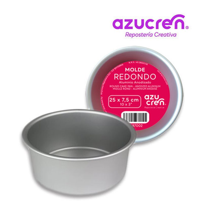 ANODIZED ROUND CAKE MOULD 25 X 7,5 CM. AZUCREN