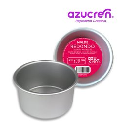 FORMA REDONDA ANODIZADA PARA BOLOS DE 20 X 10 CM. AZUCREN