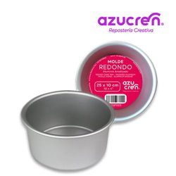 ANODIZED ROUND CAKE MOULD 25 X 10 CM. AZUCREN