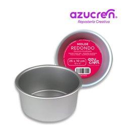 FORMA DE BOLO REDONDA ANODIZADA 25 X 10 CM. AZUCREN