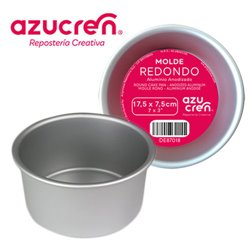 ANODIZED ROUND CAKE MOULD 17,5 X 7.5 CM. AZUCREN