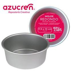 ANODIZED ROUND CAKE MOULD 17,5 X 10 CM. AZUCREN