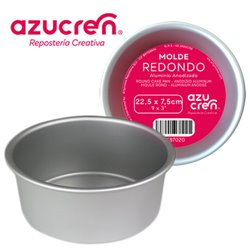 ANODIZED ROUND CAKE MOULD 22.5 X 7.5 CM. AZUCREN