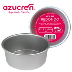 ANODIZED ROUND CAKE MOULD 22.5 X 10 CM. AZUCREN