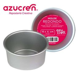 ANODIZED ROUND CAKE MOULD 15 X 5 CM. AZUCREN