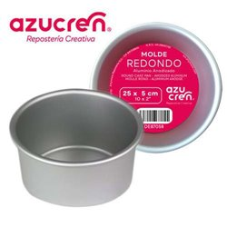 ANODIZED ROUND CAKE MOULD 25 X 5 CM. AZUCREN