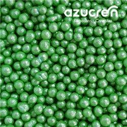 GREEN SUGAR PEARLS 4 MM SUGAR CAN 90 GRAMS