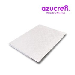 WHITE RECTANGULAR BASE 35 X 25 CM. X 1.2 CM. HEIGHT REF. AZUCREN