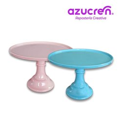 SET 2 MELAMINE STAND BLUE / PINK SUGAR