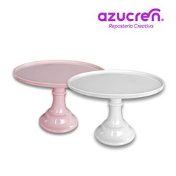 SET 2 MELAMINE STAND WHITE / PINK SUGAR