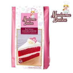 GLUTEN AND LACTOSE-FREE PREPARATION RED VELVET 400 GRAMS MADAME LOULOU ( ML005319-6 )