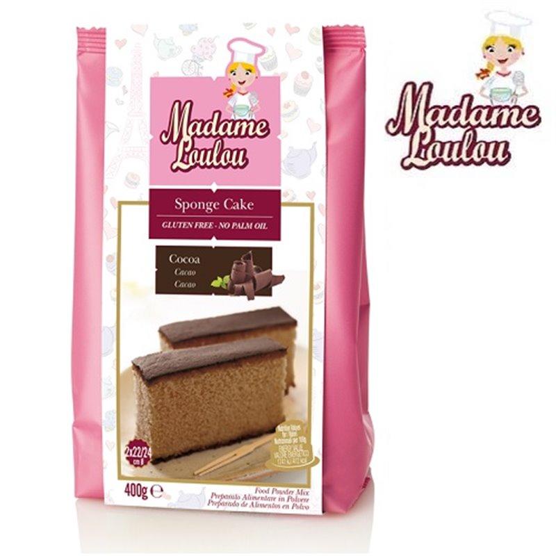 GLUTEN-FREE CHOCOLATE SPONGE CAKE 400 G MADAME LOULOU ( ML6002-6 )