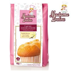 GLUTEN AND LACTOSE FREE PREPARATION OF VANILLA CUPCAKE 400 GRAMS MADAME LOULOU ( ML4005-6 )