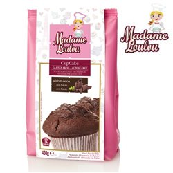 GLUTEN AND LACTOSE FREE PREPARATION OF CHOCOLATE CUPCAKE 400 GRAMS MADAME LOULOU ( ML4006-6 )