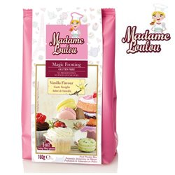 GLUTEN-FREE PREPARATION OF VANILLA FROSTING (MAGIC FROSTING) 160 GRAMS MADAME LOULOU (ML6012)