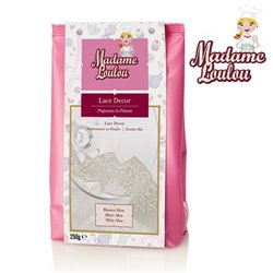 LACER DECOR WHITE LACTOSE FREE 250 GRAMS MADAME LOULOU ( ML3550-6 )