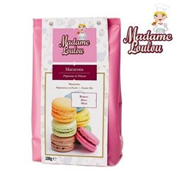 PREPARED WHITE GLUTEN-FREE MACARONS 300 GRAMS MADAME LOULOU ( ML5151-6 )
