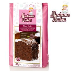 GLUTEN AND LACTOSE FREE CHOCOLATE CAKE ( MOIST CAKE ) 400 GRAMS MADAME LOULOU ( ML005317-6 )