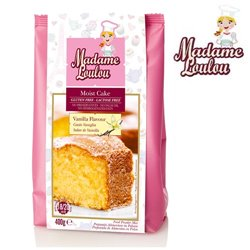 GLUTEN AND LACTOSE FREE VANILLA CAKE ( MOIST CAKE ) 400 G MADAME LOULOU ( ML005321-6 )