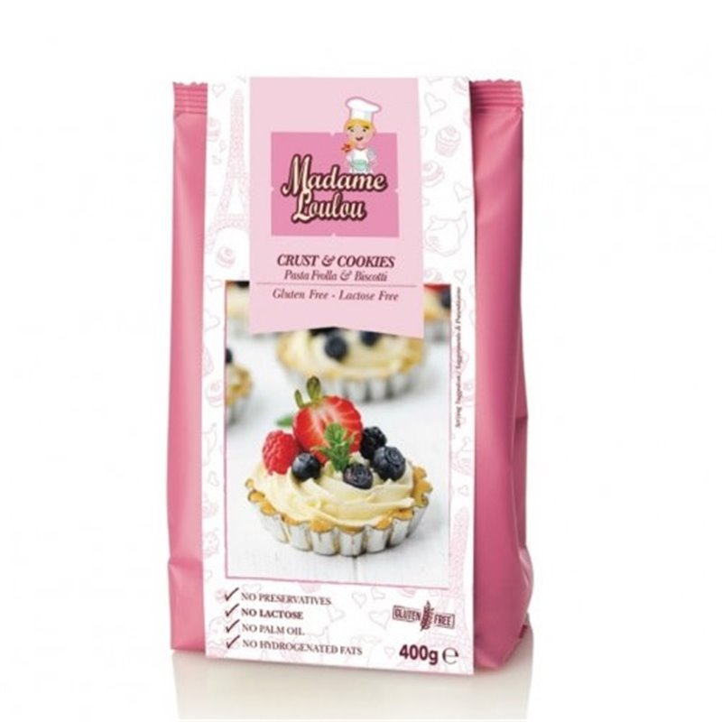GLUTEN AND LACTOSE FREE PREPARATION ( CRUST & COOKIES ) 400 GR MADAME LOULOU ( ML7020 )
