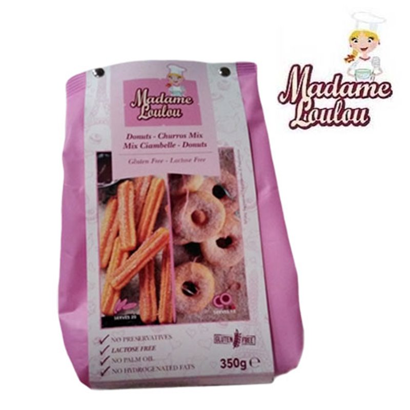 GLUTEN-FREE DONUT AND CHURROS PREPARATION 350 GRAMS MADAME LOULOU ( ML005354 )