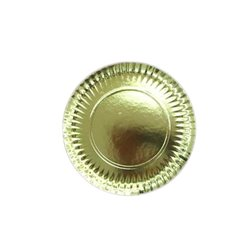 GOLD PLATES 27 CM. PACKAGE 100 UNITS