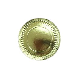 GOLD PLATES 30 CM. PACKAGE 100 UNITS