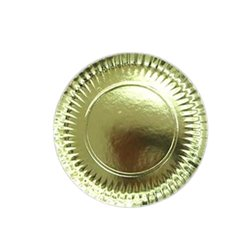 GOLD PLATES 35 CM. PACKAGE 50 UNITS
