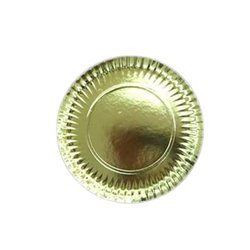 PLATES GOLD FLATTENS 25 CM. PACKAGE 100 UNITS