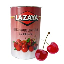 RED CHERRIES 22/24 CAN OF 5.4 KG.